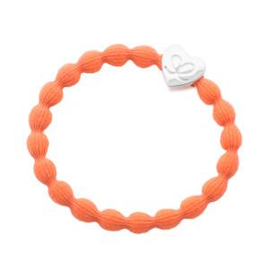 Silver heart NEON orange LR-1814